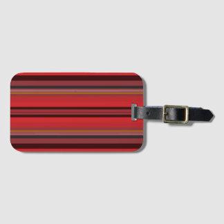 Etiqueta De Bagagem Listras - horizonte vermelho