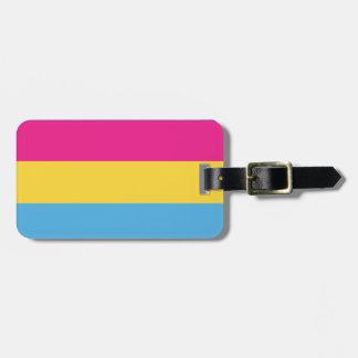 Etiqueta De Bagagem Listras Pansexual do design   da bandeira do