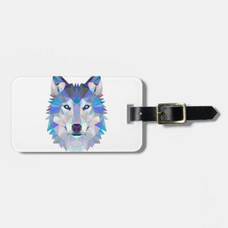 Etiqueta De Bagagem Lobo do polígono - lobo geométrico - lobo abstrato