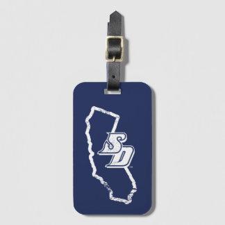 Etiqueta De Bagagem Logotipo do estado de Califórnia do vintage de USD