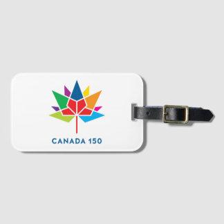 Etiqueta De Bagagem Logotipo do oficial de Canadá 150 - multicolorido