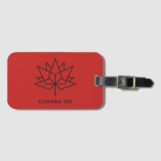 Etiqueta De Bagagem Logotipo do oficial de Canadá 150 - vermelho e