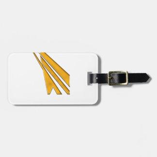 Etiqueta De Bagagem logotipo do ouro