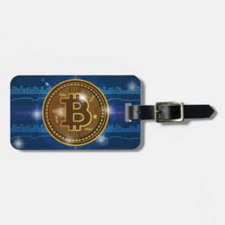 Etiqueta De Bagagem Logotipo legal de Bitcoin e design do gráfico