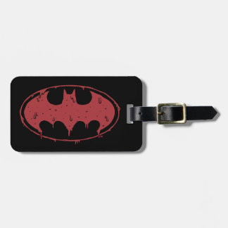 Etiqueta De Bagagem Logotipo Oozing do bastão vermelho de Batman |
