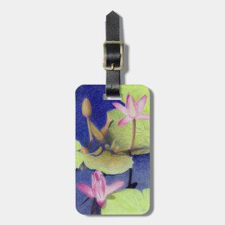 Etiqueta De Bagagem Lotus cor-de-rosa Waterlily