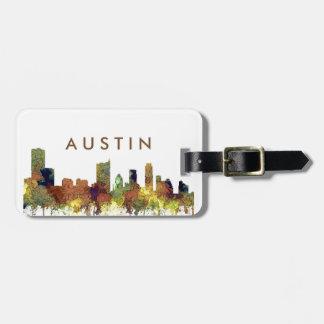Etiqueta De Bagagem Lustre do SG-Safari da skyline de Austin Texas