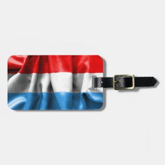 Etiqueta De Bagagem Luxembourg embandeira o Tag da bagagem