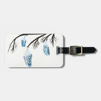 Etiqueta De Bagagem Luz - casulos azuis