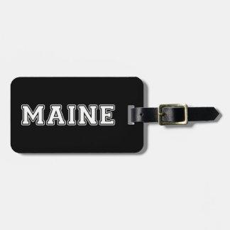 Etiqueta De Bagagem Maine