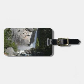 Etiqueta De Bagagem Mais baixas quedas de Yosemite do parque nacional