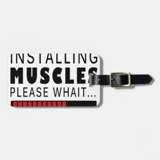 Etiqueta De Bagagem Malhação e músculos do Gym