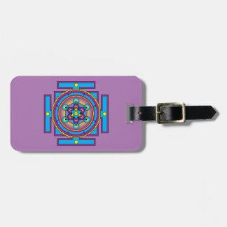 Etiqueta De Bagagem Mandala de Merkaba do cubo de Metatron