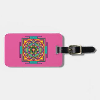 Etiqueta De Bagagem Mandala do cubo de Metatron