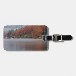 Etiqueta De Bagagem Manhã do outono sobre o lago Bohinj