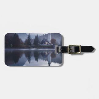 Etiqueta De Bagagem Manhã no lago Bohinj em Slovenia