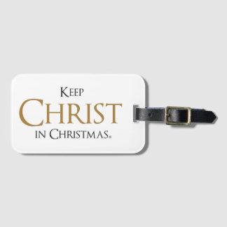 Etiqueta De Bagagem Mantenha o cristo no Tag da bagagem de Christmas®