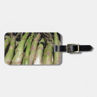 Etiqueta De Bagagem Mão fresca do aspargo escolhida do jardim