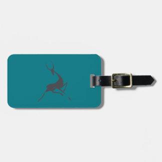 Etiqueta De Bagagem Mão Playfully elegante gazela cinzenta tirada