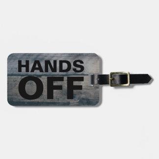 Etiqueta De Bagagem Mãos engraçadas da reivindicação de bagagem | do