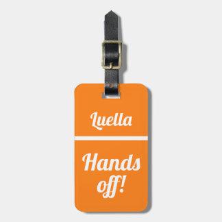 Etiqueta De Bagagem Mãos personalizadas fora do Tag engraçado da