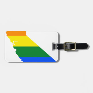 Etiqueta De Bagagem Mapa da bandeira de Califórnia LGBT