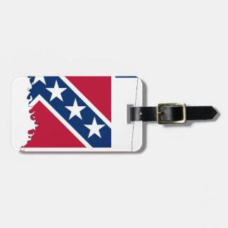 Etiqueta De Bagagem Mapa da bandeira de Mississippi