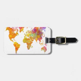 Etiqueta De Bagagem mapa do mundo