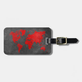 Etiqueta De Bagagem mapa do mundo 11