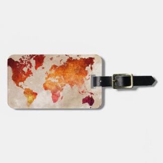 Etiqueta De Bagagem mapa do mundo 13