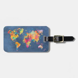 Etiqueta De Bagagem mapa do mundo 8