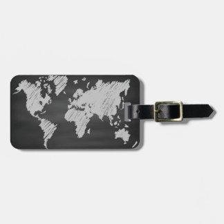 Etiqueta De Bagagem Mapa do quadro do mundo