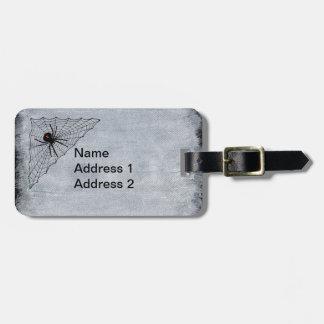 Etiqueta De Bagagem Marca vermelha da ampulheta da aranha da viúva