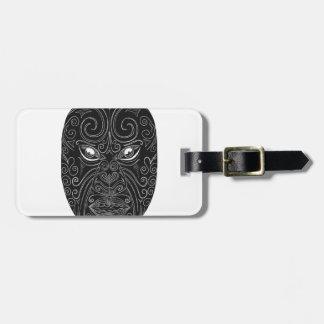 Etiqueta De Bagagem Máscara maori Scratchboard