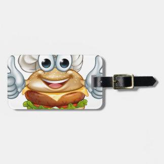 Etiqueta De Bagagem Mascote do personagem de desenho animado da comida