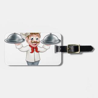 Etiqueta De Bagagem Mascote do personagem de desenho animado do