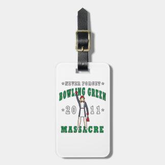 Etiqueta De Bagagem Massacre 2011 de Bowling Green