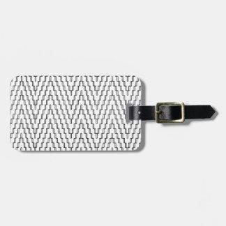 Etiqueta De Bagagem Matéria têxtil indonésia ondulada abstrata