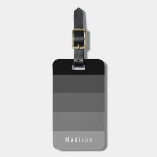 Etiqueta De Bagagem Matiz cinzentas pretas góticos pessoais editáveis