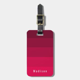Etiqueta De Bagagem Matiz cor-de-rosa vermelhas magentas pessoais