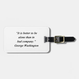 Etiqueta De Bagagem Mau Empresa - George Washington