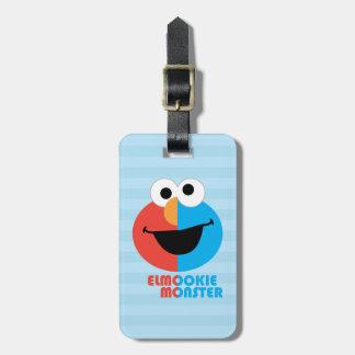 Etiqueta De Bagagem Meia cara de Elmo e de biscoito