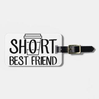 Etiqueta De Bagagem Melhor amigo curto
