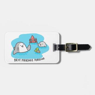 Etiqueta De Bagagem Melhores amigos para sempre!