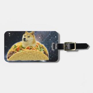 Etiqueta De Bagagem meme do taco do espaço do doge