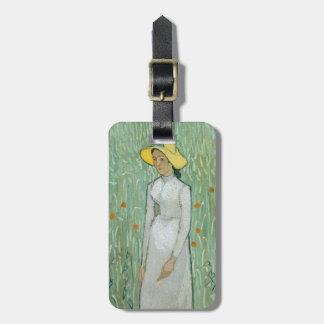 Etiqueta De Bagagem Menina de Vincent van Gogh | no branco, 1890