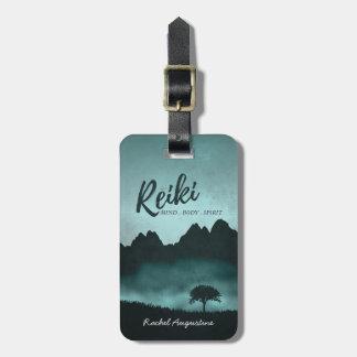 Etiqueta De Bagagem Mestre de Reiki e instrutor naturais da mediação