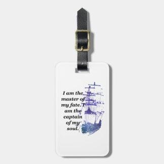 Etiqueta De Bagagem Mestre do Tag da bagagem de meu destino