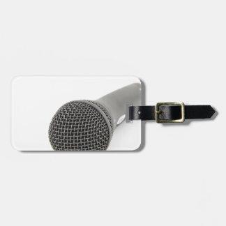 Etiqueta De Bagagem Microfone - conversa a mim