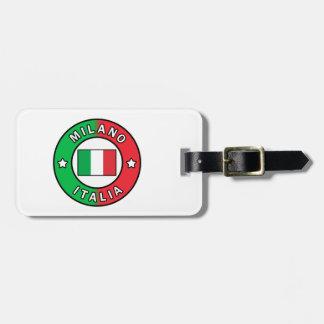 Etiqueta De Bagagem Milão Italia